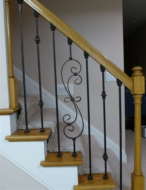 replacing stair spindles iron baluster and wood combination cdbossington interior 1881