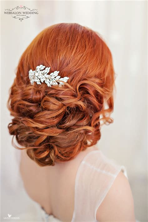 top  stylish bridal wedding hairstyles  long hair deer pearl flowers