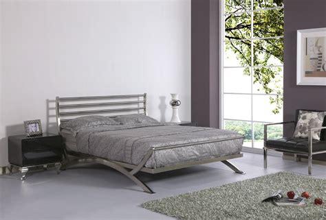 luxury bed stainless steel metal bed iron bed bedroom