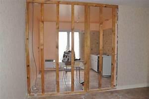 Comment Peindre Une Porte Sans Faire De Trace : cloison a ossature bois porteuse ~ Premium-room.com Idées de Décoration