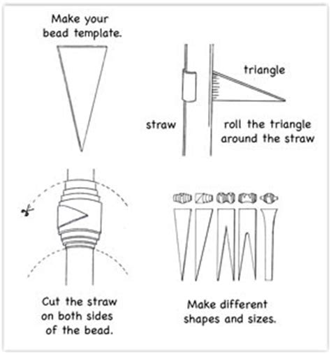 paper bead template crafts paper bead necklace