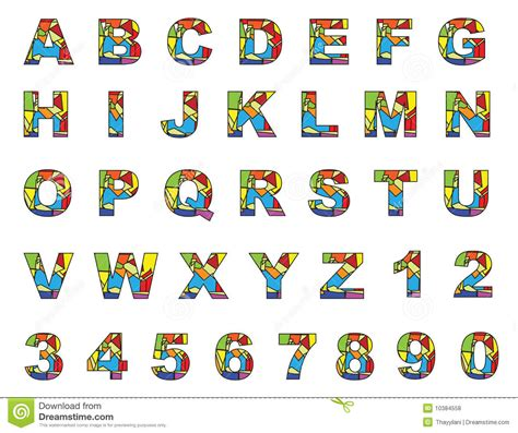 A To Z English Pictures Colorful English Letters A To Z