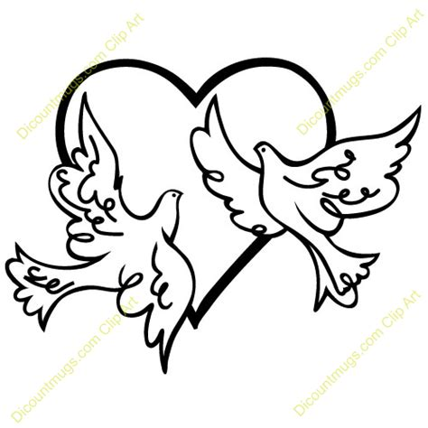 wedding doves clipart 101 clip art