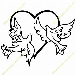 name two doves in a heart | Clipart Panda - Free Clipart ...