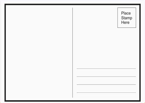 Template Postcard Template For Word Free Postcard Templates For Word Portablegasgrillweber