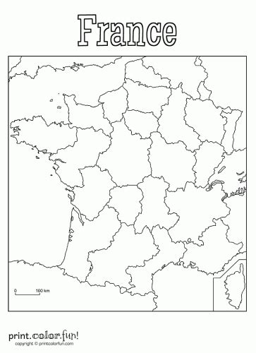 country map  france colouring pages franca france