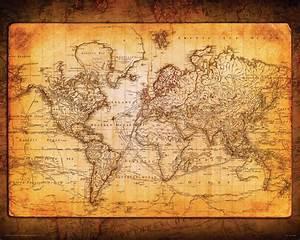 5 Best Images of Vintage World Map Printable