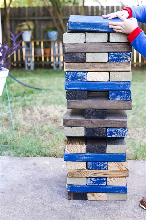 backyard jenga diy lawn backyard blocks renovations