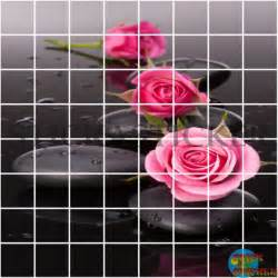sticker carrelage cuisine salle de bain zen galets roses ma boutique stickasticker