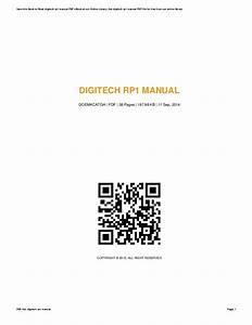 Digitech Rp1 Manual Pdf