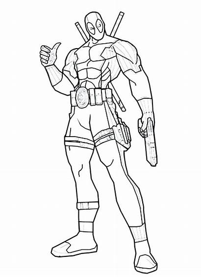 Deadpool Coloring Pages Printable Dead Pool Drawing