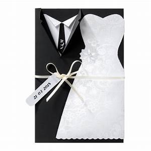 Costume Mariage Original : ausgefallene hochzeitskarte mit smoking und brautkleid perle und band hochzeitskarten ~ Dode.kayakingforconservation.com Idées de Décoration