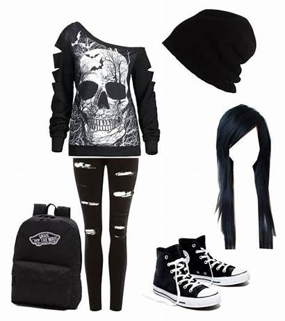 Outfits Polyvore Emo Clothes Scene Punk Clothing