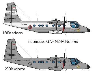 airplane scale modelkit gaf   nomad