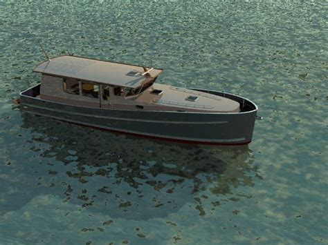 Boat Grey Hull by Canal River Or Coastal Motor Boat Boat Design Net Gallery