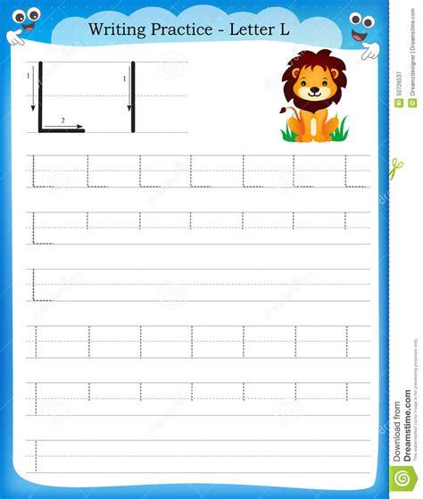 writing practice letter  cartoon vector cartoondealer
