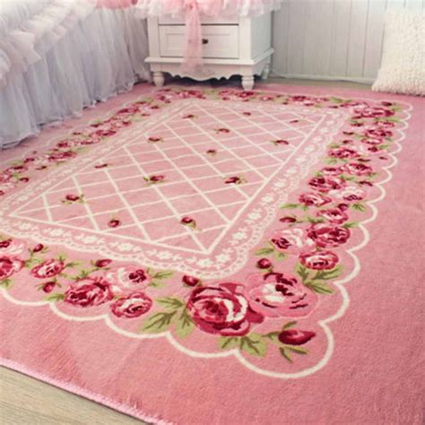 canopy bed curtain shabby chic rug