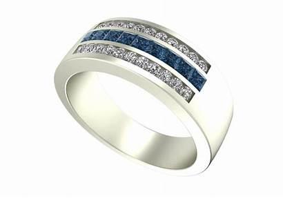 Unique Diamond Mens Band Princess Rings Custom