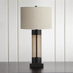 avenue bronze table lamp with usb port crate and barrel With floor lamp with table and usb