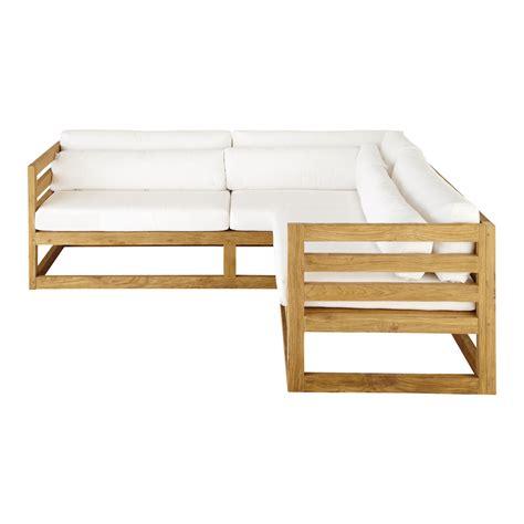 canap d angle de jardin canapé d 39 angle de jardin 3 4 places en teck cyclades