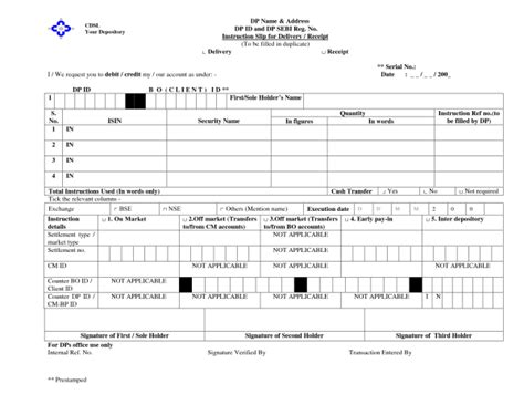 off market share transfer form how to transfer or gift shares in demat form