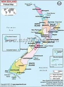 New Zealand  Map Presenting The International Boundary