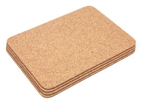 Thick Cork Rectangular Placemats Coasters Table Mats