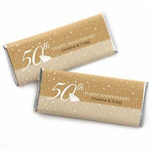 50th wedding anniversary favors 50th anniversary personalized wedding anniversary bar wrapper favors bigdotofhappiness