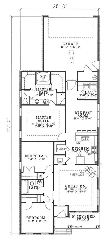Bungalow Home Plan   3 Bedrms, 2 Baths   1445 Sq Ft   #153
