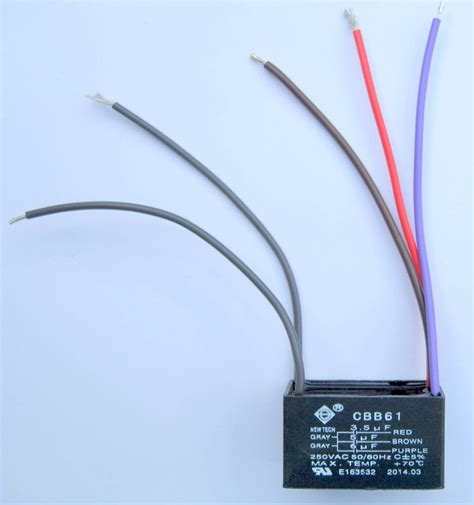 Ceiling Fan Capacitor Replacement 3 Wire by Ceiling Fan Capacitor Cbb61 3 5uf 5uf 6uf 5 Wire Ebay