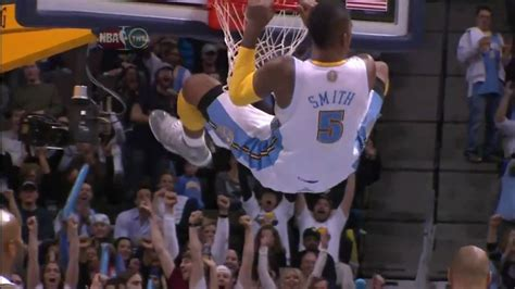 J.R. Smith Nuggets Dunk