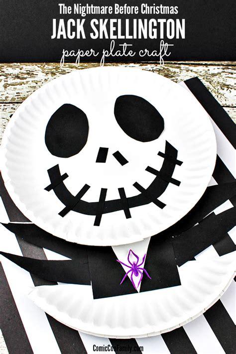 jack skellington craft for kids the nightmare before