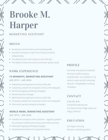 Resume Pattern by Navy Blue Line Of Patterned Squares College Resume
