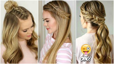 peinados tumblr faciles  cabello largo   cute hairstyles youtube