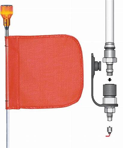 Checkers Industrial Flag Qd Whip Warning Includes