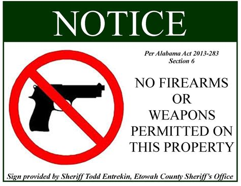 Firearms Signs For New Gun Law Will Be Ready At Noon