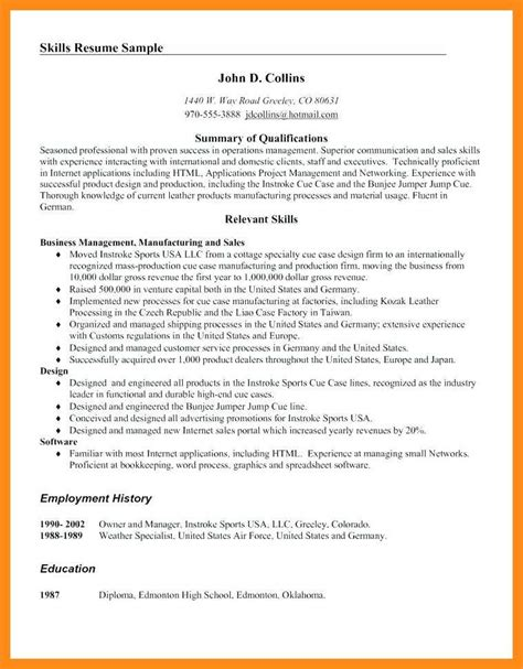 Skill Section Of Resume by 9 10 Relevant Skills For Resume Exles