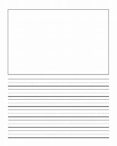 first grade writng paper template with picture journal With handwriting lines template