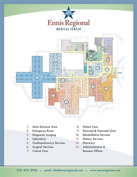 hospital floorplan ennis regional medical center