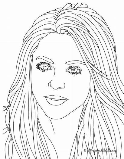 Shakira Coloring Songwriter Famous Hellokids