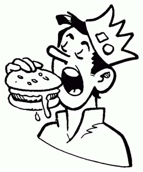jughead eating hamburger  archie comics coloring page