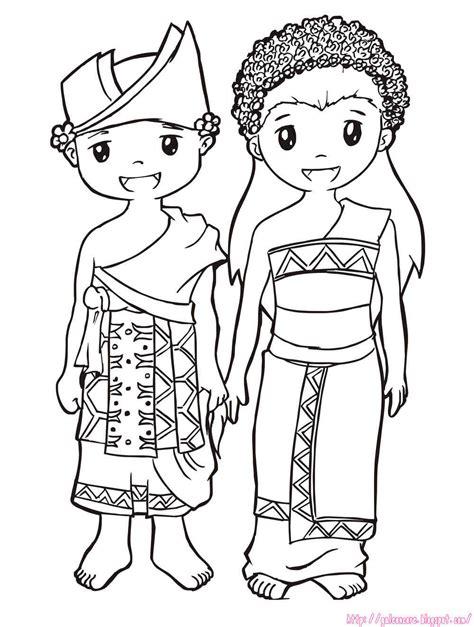 gambar kartun anak berpakaian adat aliansi kartun
