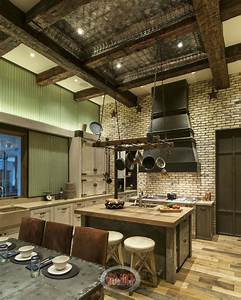 31 custom quotjaw droppingquot rustic interior design ideas photos With kitchen cabinets lowes with distressed wood and metal wall art