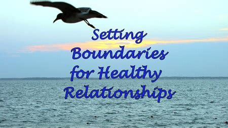 setting boundaries  healthy relationships