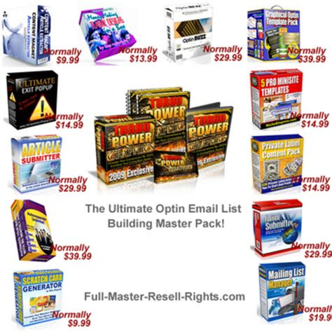 Turbo Instant Niche Templates by The Massive Optin List Building Package With Resale Rights