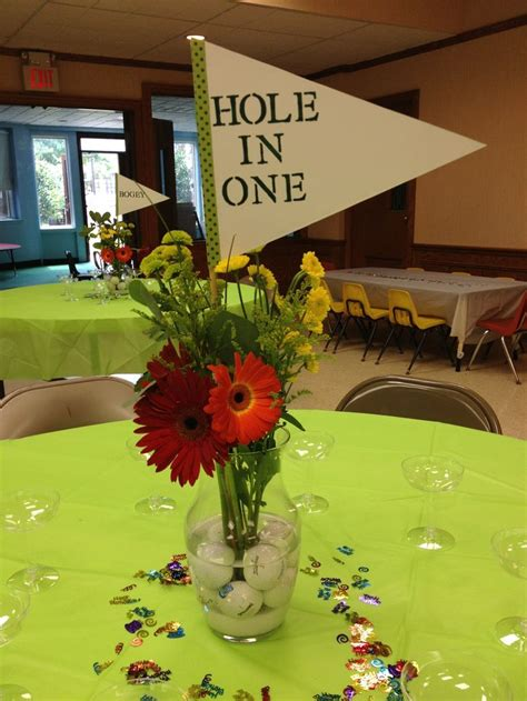 golf theme party table centerpiece super easy golf