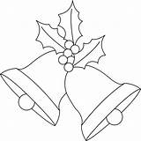 Bells Coloring Christmas Pages Bell sketch template
