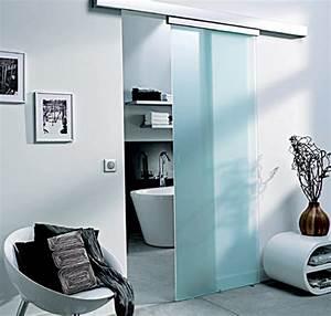porte coulissante en verre pour salle de bain With porte de douche coulissante avec meuble salle de bain avec vasque en verre trempé