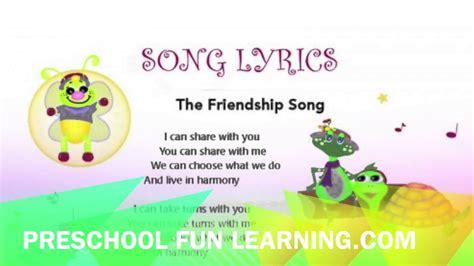 the friendship song preschool learning 722 | maxresdefault