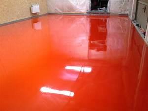Peinture Sol Epoxy : design r sine entreprise de r sine de sol r sidentielle ~ Edinachiropracticcenter.com Idées de Décoration